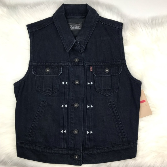 Signature by Levi Strauss Tops - Levi Strauss Navy Denim Vest Medium